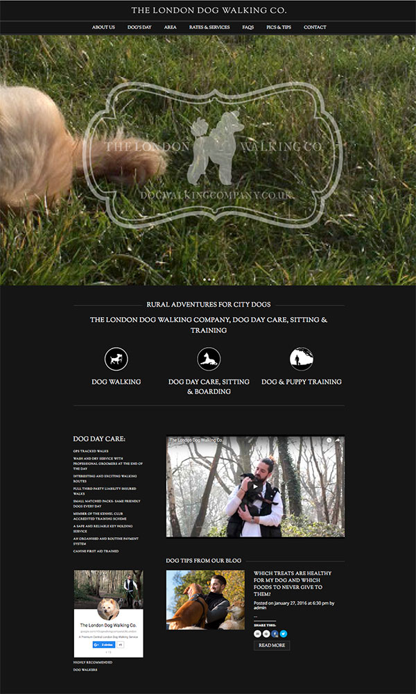 The London Dog Walking Co. - London Web Design