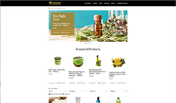 NTUTU e-commerce - London Web Design
