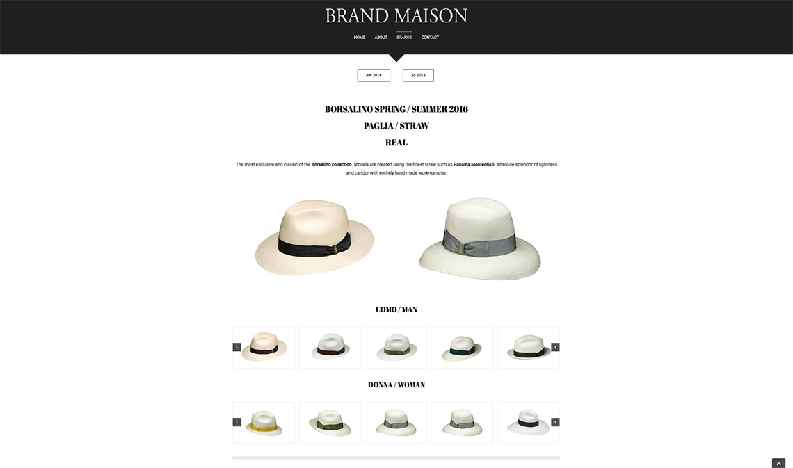 Brand Maison eccommerce - London Web Design