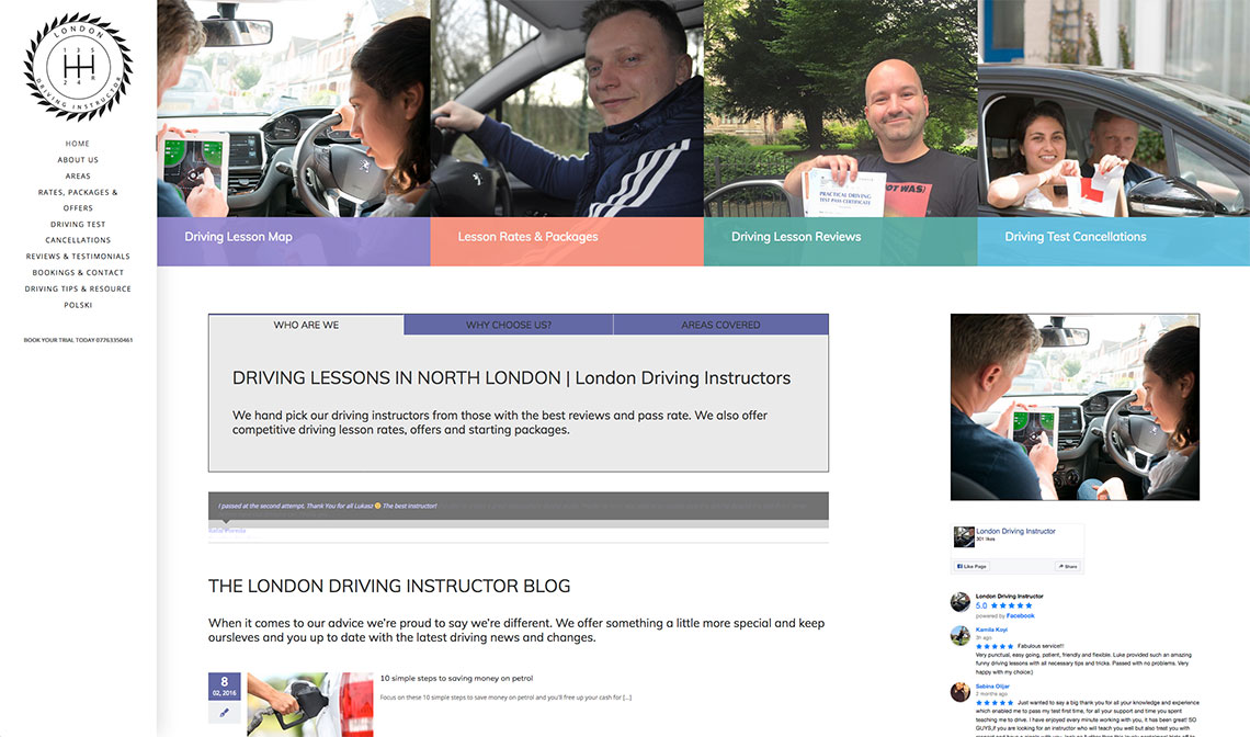 London Driving Instructor - London Web Design